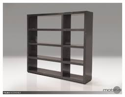 palma bookshelf with high gloss in white by mobital