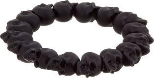 black bead skull bracelet images Alexander mcqueen skull bead bracelet for men in black for men jpeg
