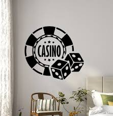 online get cheap dice room aliexpress com alibaba group free shipping casino wall decal dice aces poker play room holdem cards game art teen kids room wall decor removable wall sticker