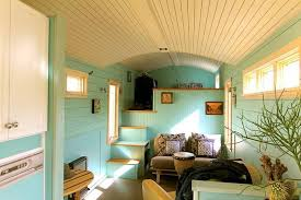 refreshing tiny house is built using gooseneck trailer treehugger