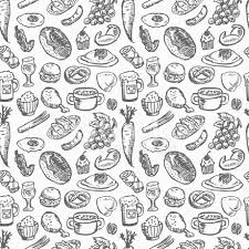 seamless pattern food food background pattern