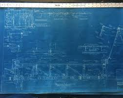 Wall Blueprints Blueprint Etsy