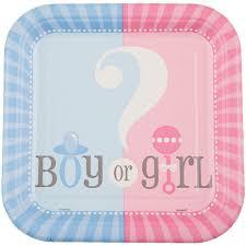 amazon com square gender reveal dessert plates 10ct party