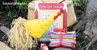 giveaway farm vintage book by lori holt and 18 quilt fat