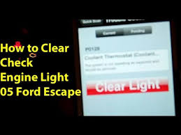 how to clear check engine light how to clear check engine light ford escape 05 youtube