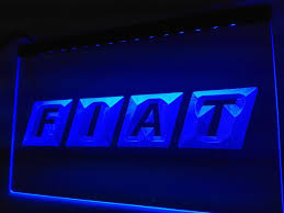 fiat led sign u2013 vintagily