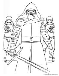 star wars u2013 kylo ren and first order coloring page coloring page