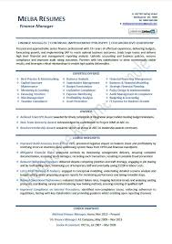 Bank Manager Resume Samples by Download Finance Manager Resume Haadyaooverbayresort Com