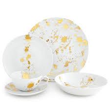 1948 white gold five dinner set modern dining jonathan