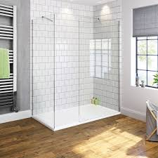 walk in shower enclosure wet room easy clean glass screen cubicle
