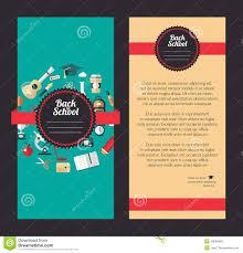 design flyer layout vector school flat design flyer templates stock vector