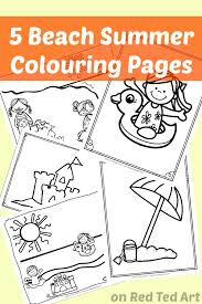 5 beach colouring pages red ted art u0027s blog