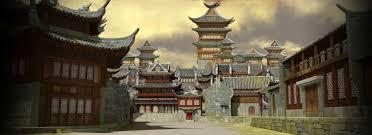 palace courtyard kung fu panda 2 desktop wallpaper