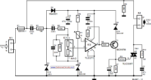 automatic air humidifier circuit diagram