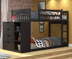 Bunk Bed Furniture Store Mission Chest Bunk Bed Black Brown 807 30