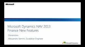 dimensions in dynamics nav 2013 from microsoft youtube