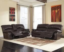 Leather Reclining Sofa Loveseat Damacio Brown Reclining Sofa Loveseat U98200 81 43