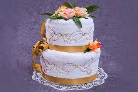towel cakes how to make a towel wedding cake lovetoknow