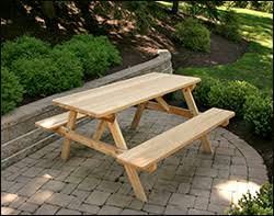 Cedar Patio Table Red Cedar Picnic Tables