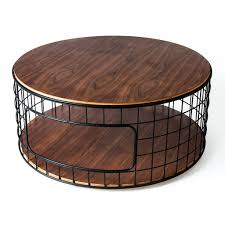 coffee table metal and round wood coffee table big round coffee