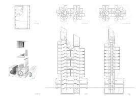 typical floor plan nakagin capsule building tokyo japan