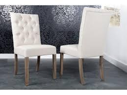 chaise capitonné chaise capitonnée crème