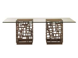 Glass Top Table Ocean Club South Sea Dining Table With 84x48 Inch Glass Top
