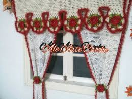 Crochet Kitchen Curtains by 202 Best шторы занавески крючком Images On Pinterest Crochet