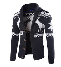 cable knit christmas hot fashion winter men christmas sweater with deer pattern cable
