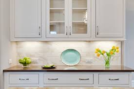 modern small white kitchen decoration using white led lamp under