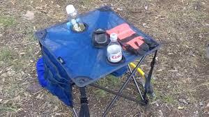timber ridge folding camp table youtube