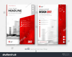 Catalog Red Cover Design Annual Report Catalog Stock Vector 420520807