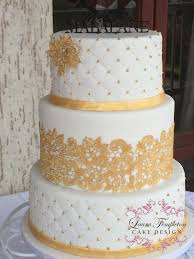 wedding cake gold gold white wedding cake cake by templeton cakesdecor