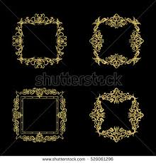 wedding backdrop design vector gold vintage decor elements wicker lines stock vector 520061296