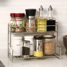 Bathroom Cabinet Organizer Kitchen Storage Holder 2 Tier Spice Shelf Bathroom Cabinet