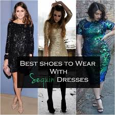 best shoes to wear with sequin dress