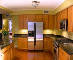 Kitchen Design Ideas For Small Galley Kitchens Interior Marvellous Small Galley Kitchen With Straight Wooden
