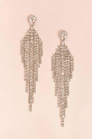 rhinestone chandelier earrings lyst forever 21 rhinestone chandelier earrings