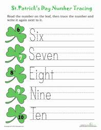 trace st patrick u0027s day numbers 2 worksheet education com