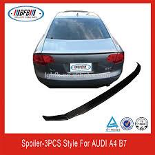 audi a4 spoiler abt style spoiler for audi a4 b7 3pcs carbon fiber rear trunk