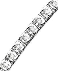 diamond bracelet white gold images Diamond bracelet in 14k white or yellow gold 1 ct t w tif