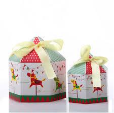 new year box 12cm 12cm 13cmcarousel hexagonal box apple cake cookie west point