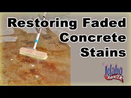 how to restore concrete sealer restoring faded colored concrete