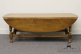 Coffee Table Price High End Used Furniture Ethan Allen Circa 1776 Maple 50 Oval