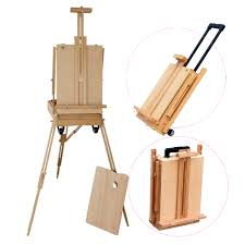 portable folding artist painting wood case box easel stand display