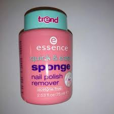 essence quick and easy sponge nail polish remover acetone free