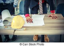 in bureau customer and designer discussing project in bureau stock photo