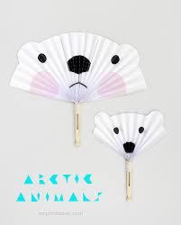 diy fans arctic animals diy paper fans mr printables mr printables