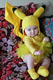 Baby Safe Halloween Makeup Inspiration Only Handmade Baby Pikachu Costume Crochet Tutu