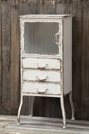 distressed white metal apothecary cabinet white distressed